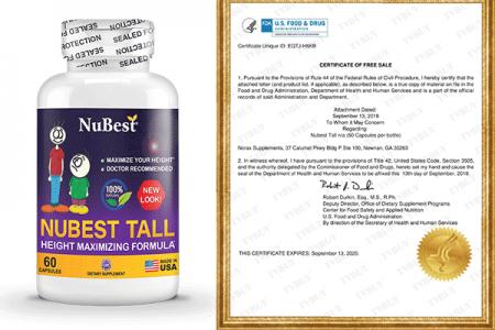 Nubest Tall đạt chứng nhận FDA Hoa Kỳ