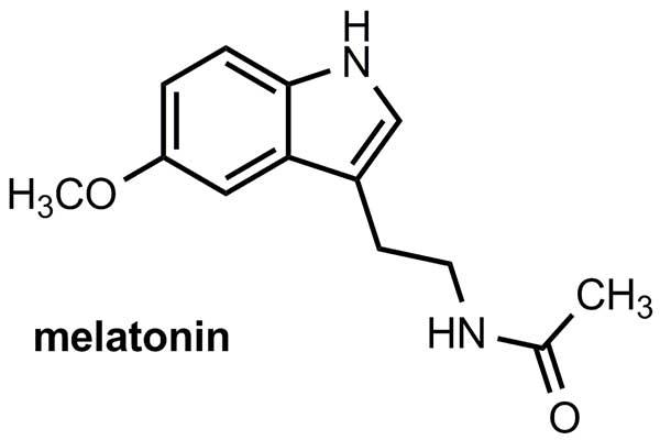 Công thức hóa học của melatonin