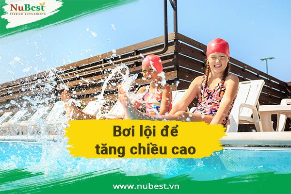 Bơi lội giúp tăng chiều cao hiệu quả