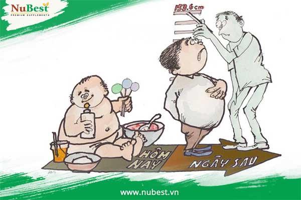 béo phì làm chiều cao chậm phát triển