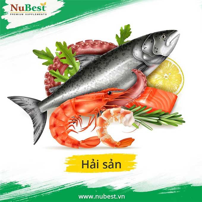 Hải sản chứa nhiều vitamin cần có trong thực đơn tăng chiều cao cho trẻ
