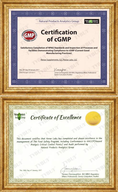 Chứng nhận cGMP, HACCP cho các sản phẩm của NuBest