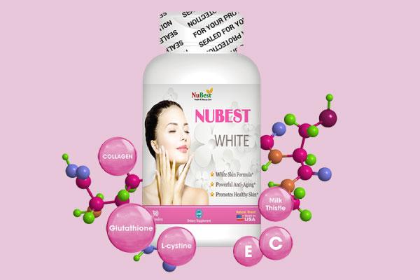 Viên uống trắng da Nubest White từ Mỹ chứa công thức làm trắng độc đáo và hiệu quả