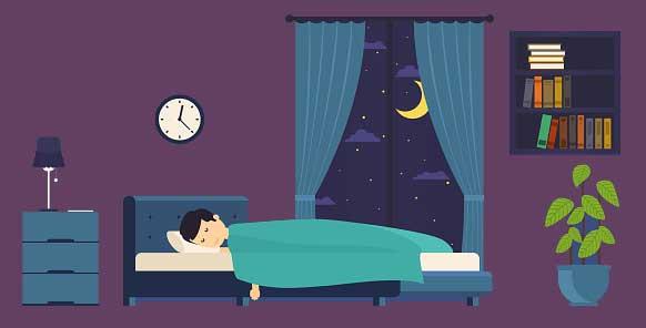 Ngủ trong căn phòng thông thoáng