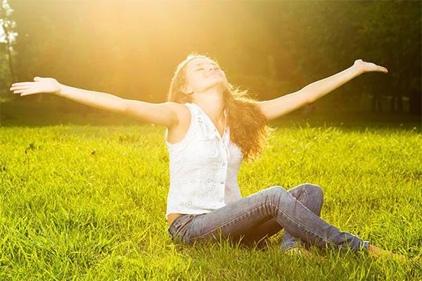 tận hưởng ánh nắng mặt trời