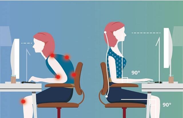 Điều chỉnh tư thế ngồi để tránh gây tổn thương cột sống