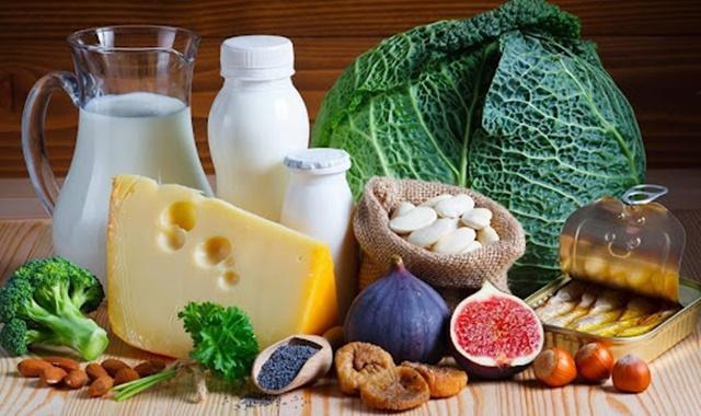 Một số thực phẩm chứa hàm lượng Canxi cao