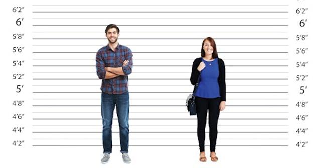Chiều cao con người là khoảng cách tính từ lòng bàn chân đến đỉnh đầu